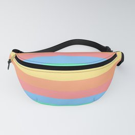 lumpy or bumpy lines abstract and summer colorful - QAB275 Fanny Pack