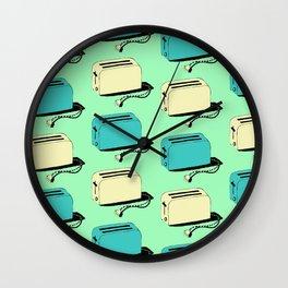 Toasters (mint & cream) Wall Clock