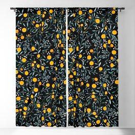 Oranges Black Blackout Curtain