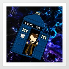 Tardis in space Doctor Who 10 Art Print