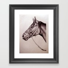 Sir Alfred - Racehorse Framed Art Print