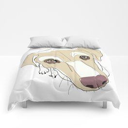In your face labrador Comforters