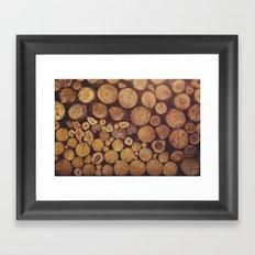 pile of wood Framed Art Print