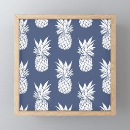 Pineapple Blues Framed Mini Art Print