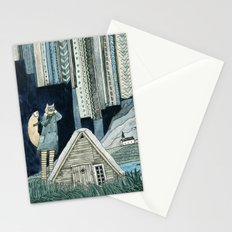 Photographing Northern Lights Stationery Cards