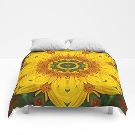 Prairie Coreopsis Mandala Comforters