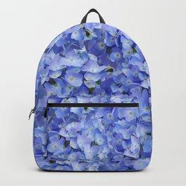 Blue Hydrangea Flower Blossoms pattern Backpack