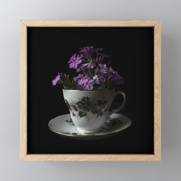 Botanical Tea Cup Framed Mini Art Print