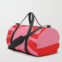Pink Red Summer Sun Duffle Bag