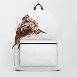 Sneaky Highland Cow Backpack