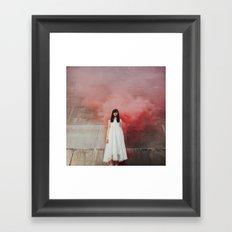Red smoke Framed Art Print