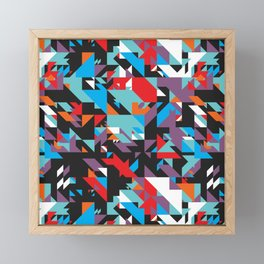 Colorful Texture Purple, Turquoise, Orange, White, Red and Black Framed Mini Art Print