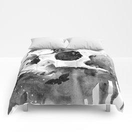 Black Butterflies Comforters