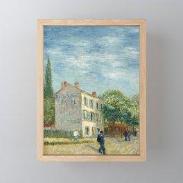 The restaurant Rispal in Asnières -  Van Gogh Framed Mini Art Print