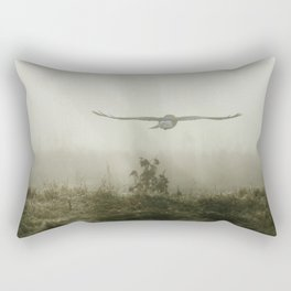 Foggy Morning Harrier Rectangular Pillow