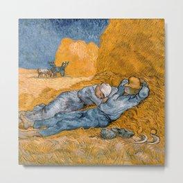 Noon – Rest from Work by Vincent Van Gogh Metal Print