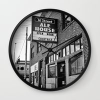 ale giorgini Wall Clocks featuring M Street Ale House by Vorona Photography