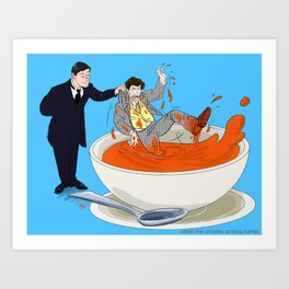 Pulled from the Soup Art Print