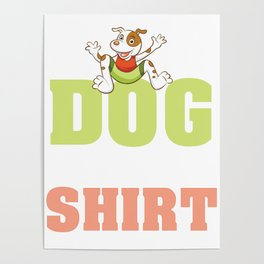 dogs cuddle shirt dog to cuddle to caress dog hair Poster