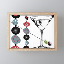Mid-Century Modern Art Atomic Cocktail 3.0 Framed Mini Art Print