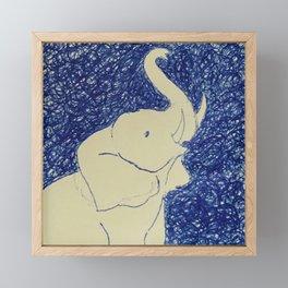 Elephant Doodle # 2 Framed Mini Art Print