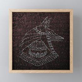 Anubis Egyptian God Framed Mini Art Print