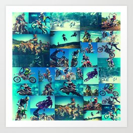 Tyler Durden Motocross Shirt Club Fight Cosplay Art Print