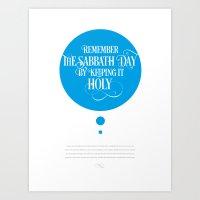 The Fourth Commandment Art Print