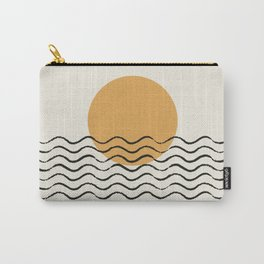 Ocean wave gold sunrise - mid century style Carry-All Pouch