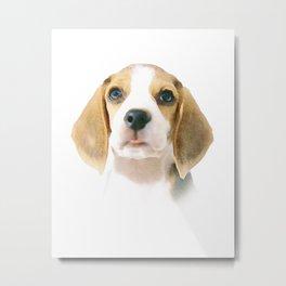Cute Beagle Puppy Metal Print