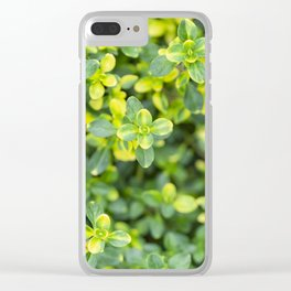 Nature floral herbal pattern Clear iPhone Case