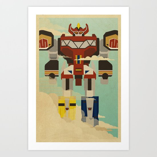 The Mega of the Zords Art Print