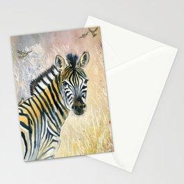 Zebra in Rainbow Savanna Stationery Cards