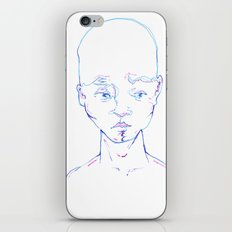 Troubled Young Man iPhone & iPod Skin