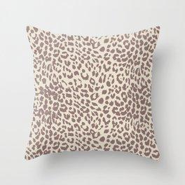 Light Tan Leopard Throw Pillow