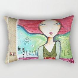 Love me tender Rectangular Pillow