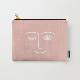 Wink / Pink Carry-All Pouch