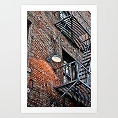 Fire Escape! Art Print