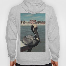 Florida Pelican Color Photo Hoody