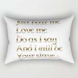 Just Fear Me (white bg) Rectangular Pillow