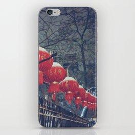 Red Lanterns in Chinatown, NYC iPhone Skin