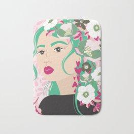 Floral & Feminine - Determined Bath Mat