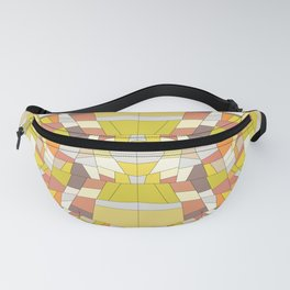 Orange and Yellow Tones Triangle Abstract Pattern Fanny Pack