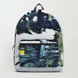 Frederic Remington - The Call for Help - Digital Remastered Edition Backpack