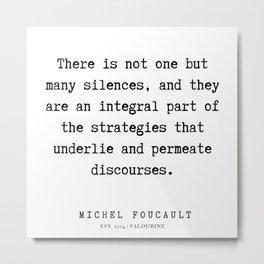 24     Michel Foucault Quotes   200119 Metal Print