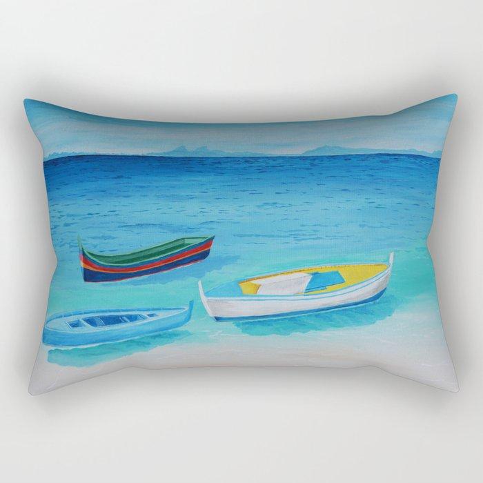 Rowboats Rectangular Pillow