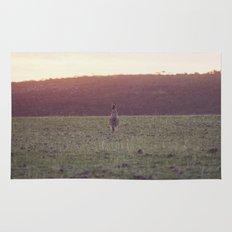 Kangaroo at Sunset Rug