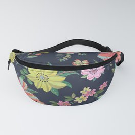 Dramatic Floral Pattern Fanny Pack