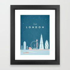 Vintage London Travel Poster Framed Art Print
