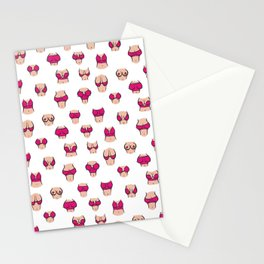 Boobs in pink bra Stationery Cards